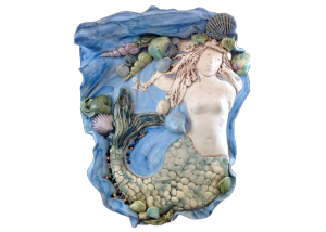 Clay Born Pottery - Mermaid Wall Plaque