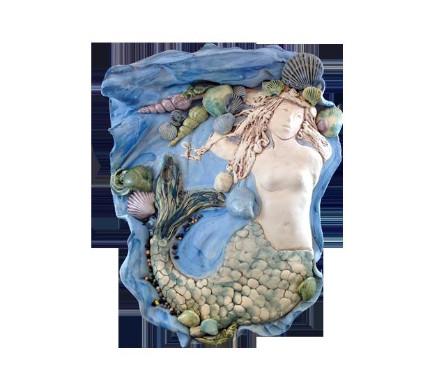 Clay Born Pottery - Mermaid Wall Plaque
