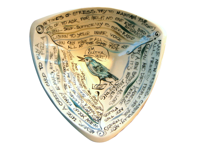 "Clay Born Pottery - Custom Bowl ""Leaving The Nest"""