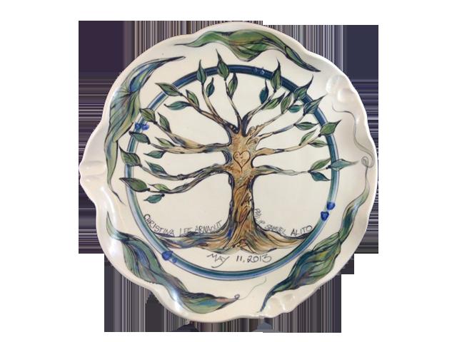 Clay Born Pottery - Custom Wedding Platter